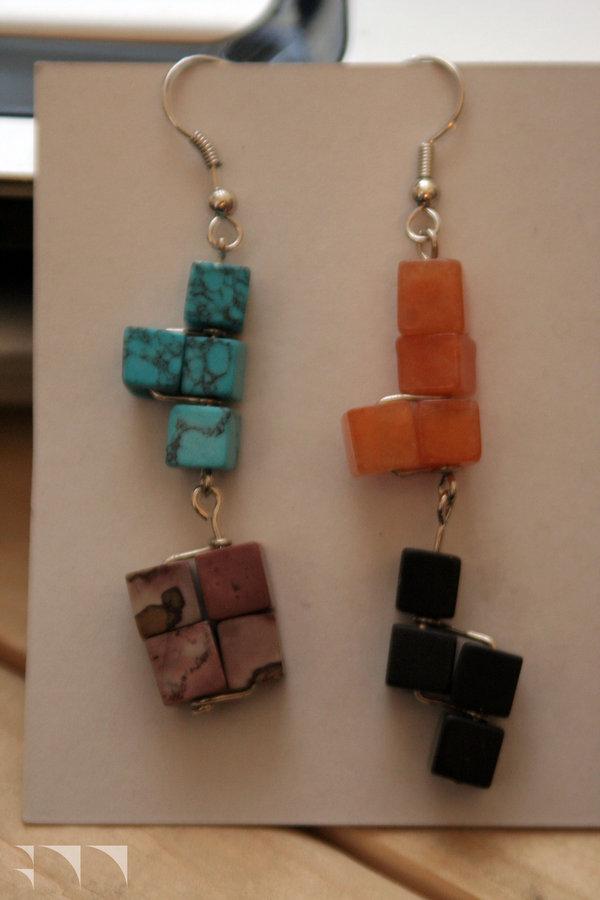 Tetris Earrings - 2010
