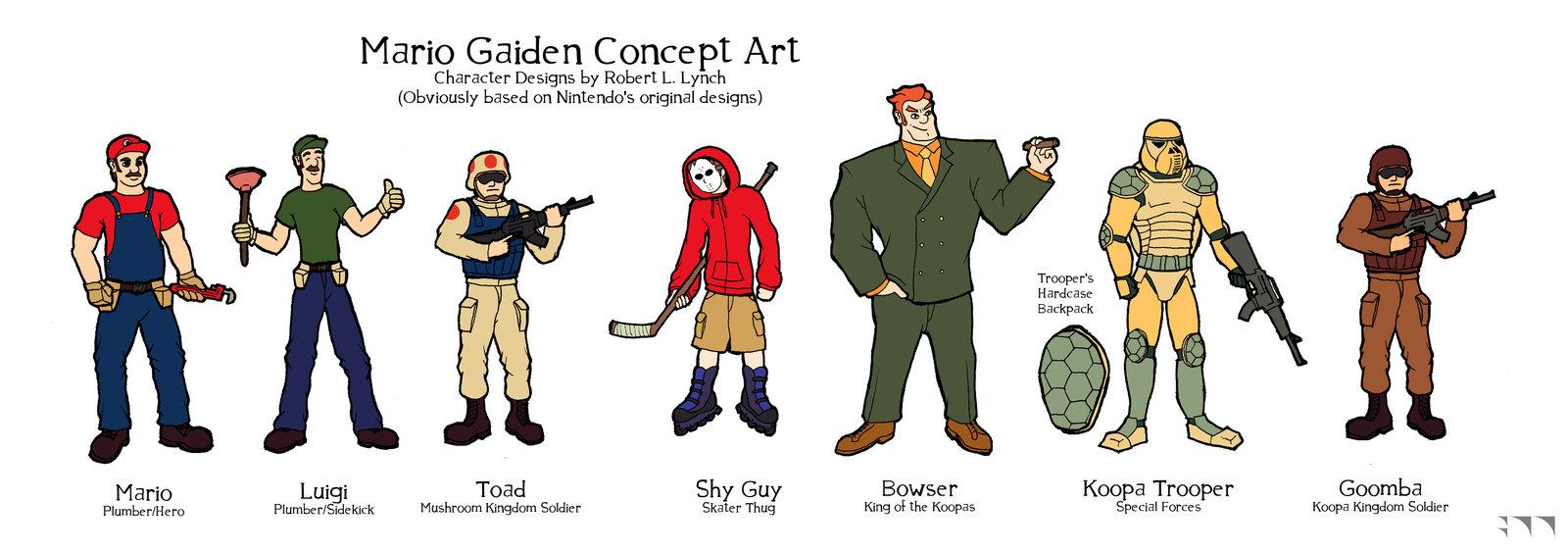 Mario Gaiden Character Designs - 2009
